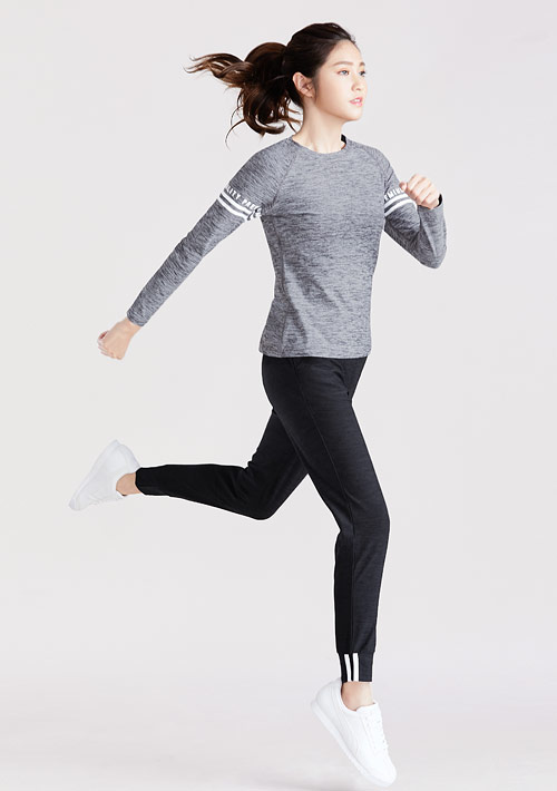 抗UV吸排運動袖印花長褲套裝