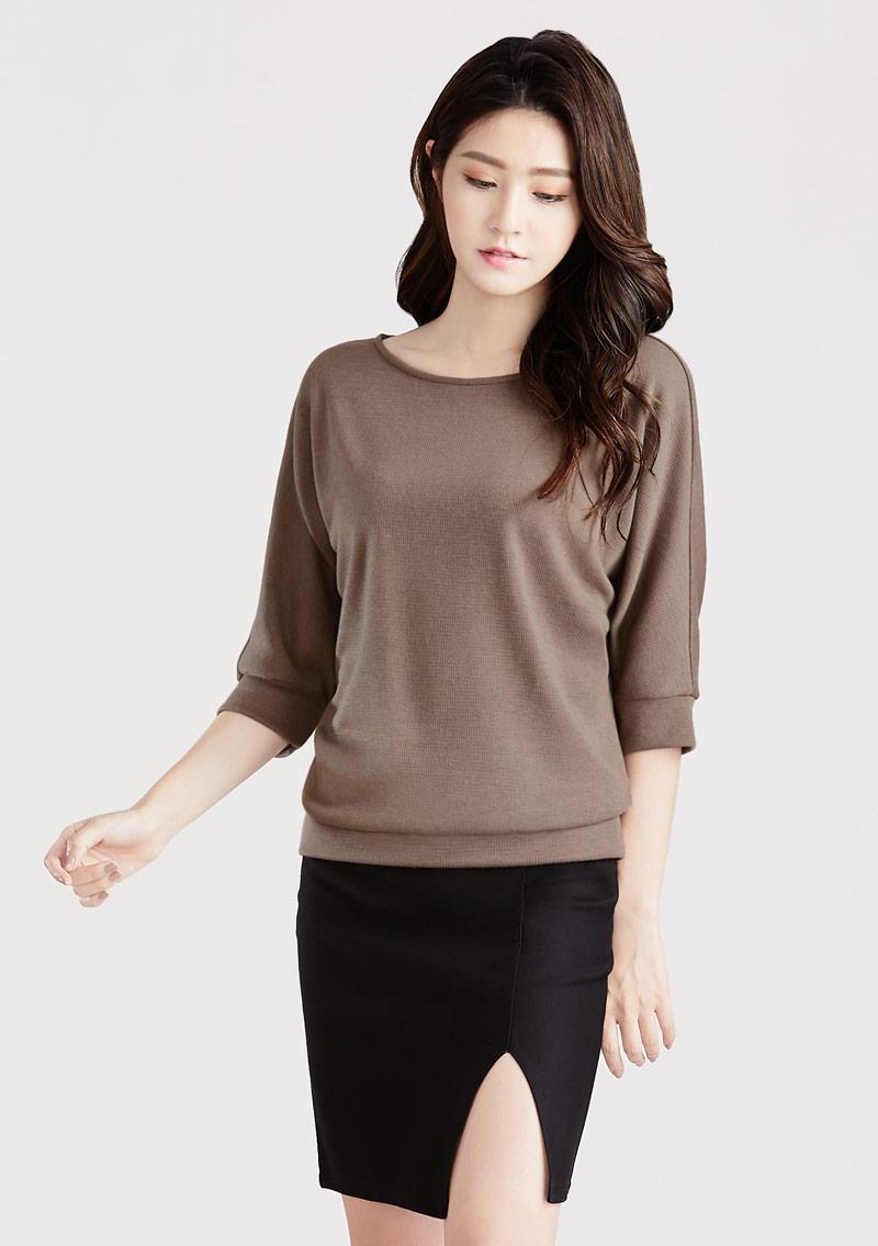 羊毛七分袖針織衫