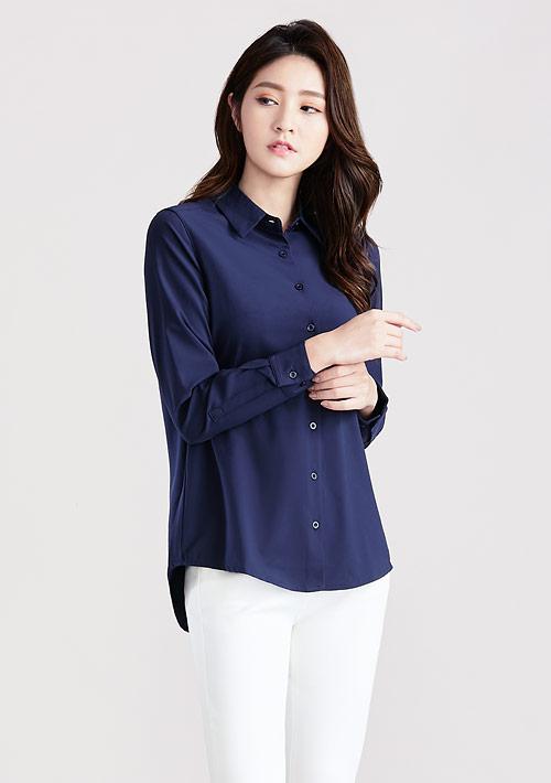 輕柔吸排長袖襯衫
