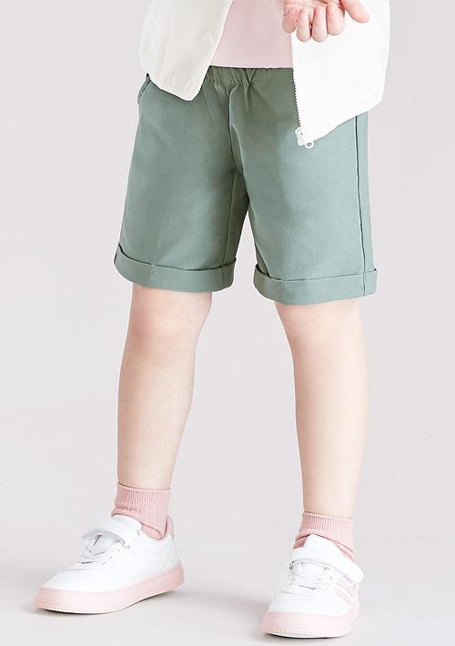 特級彈性反折短褲-童裝