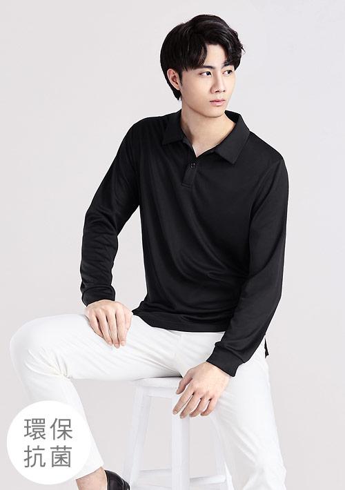 抗UV吸排長袖polo衫-男裝