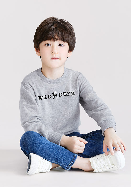 小鹿毛圈印花T恤-童裝