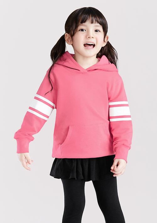 毛圈袖印花連帽衫-童裝