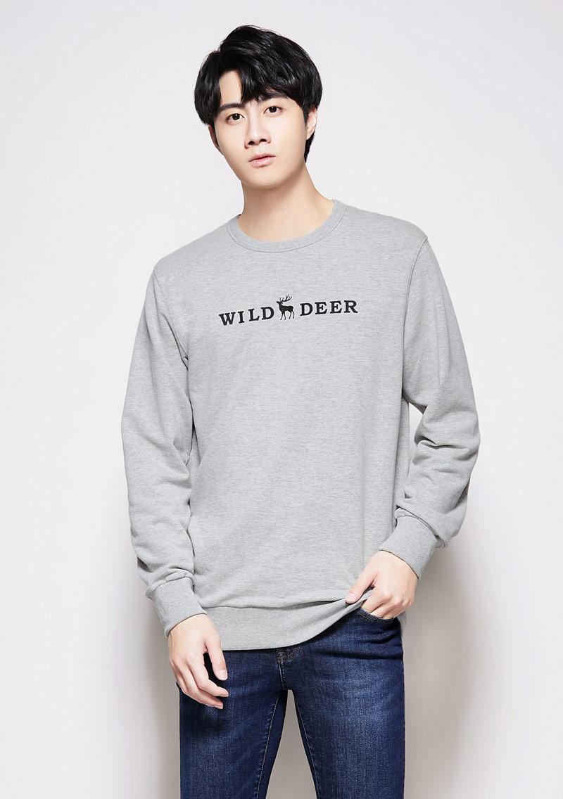 小鹿毛圈印花T恤-男裝
