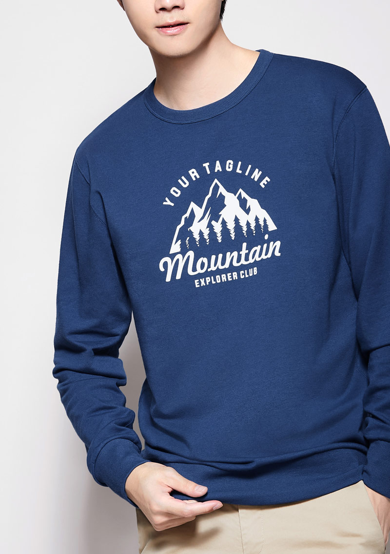 登山毛圈印花T恤-男裝