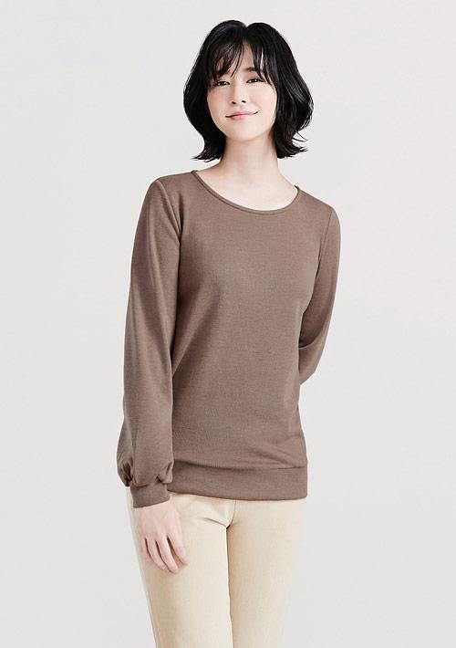 羊毛泡泡袖針織衫