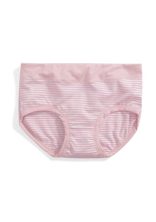 透氣包覆條紋中腰內褲