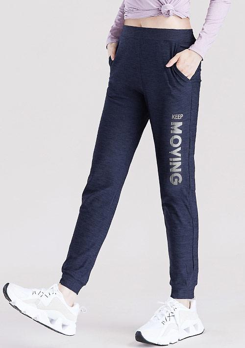 反光文字印花抗UV吸排運動束口長褲