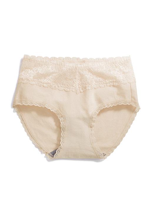 蕾絲抗菌中腰內褲
