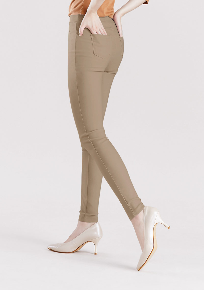 特級彈性磨毛發熱窄管褲