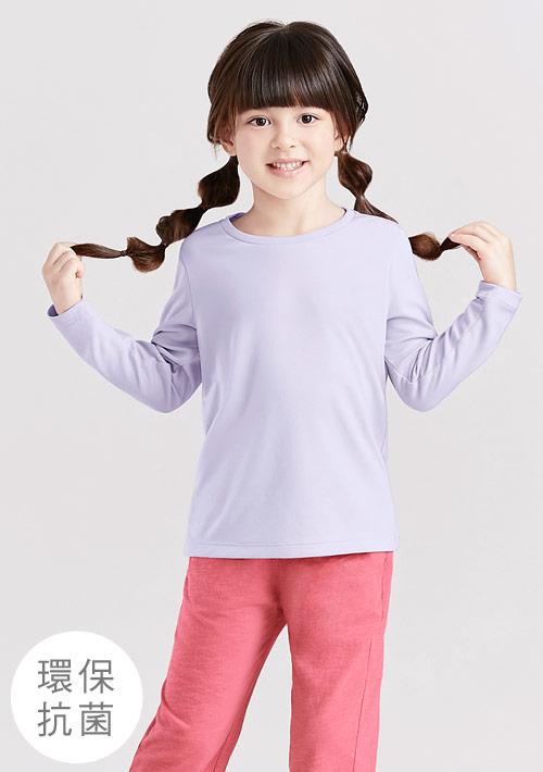 抗UV吸排圓領長袖上衣-童裝