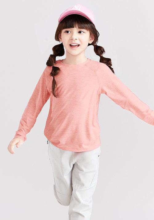 抗UV吸排運動長袖上衣-童裝